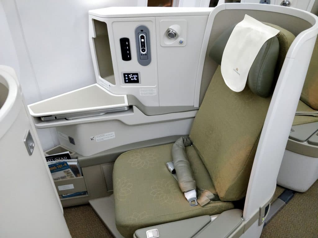 Vietnam Airlines Boeing 787 Business Class Sitz 3