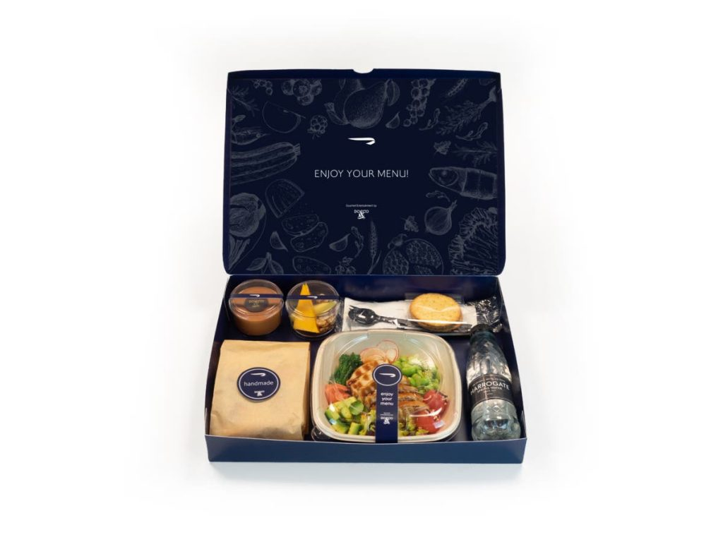 British Airways Business Class Neues Catering