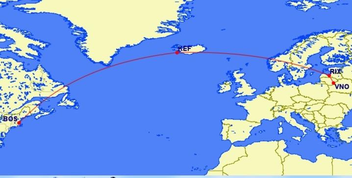 Icelandair und airBaltic
