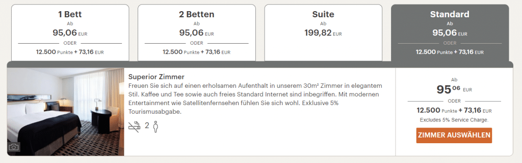 InterContinental Berlin Standardzimmer