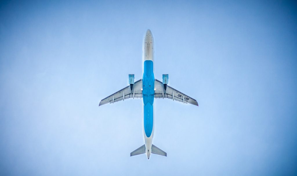 Flugzeug Take Off/Start, Austrian Airlines A320