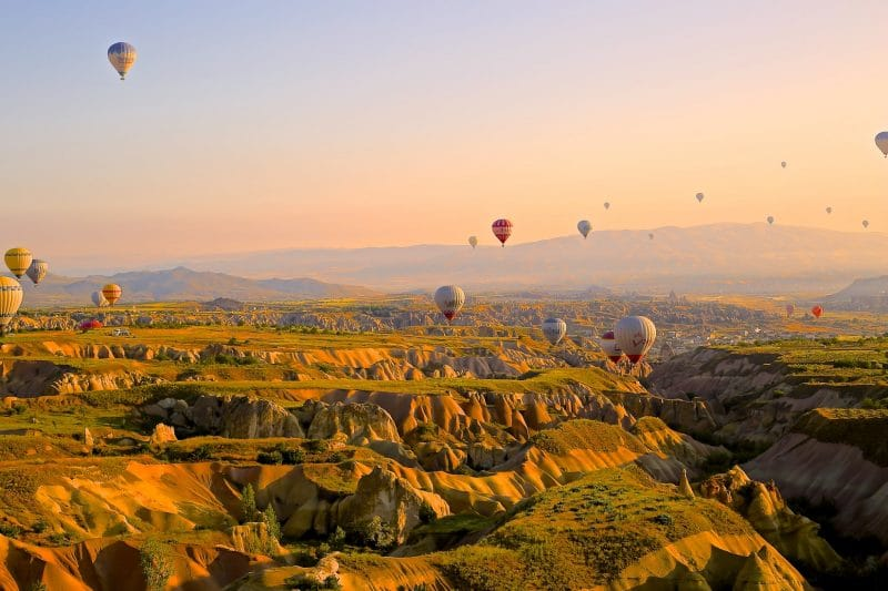 Cappadocia Turkei Landschaft Balloons