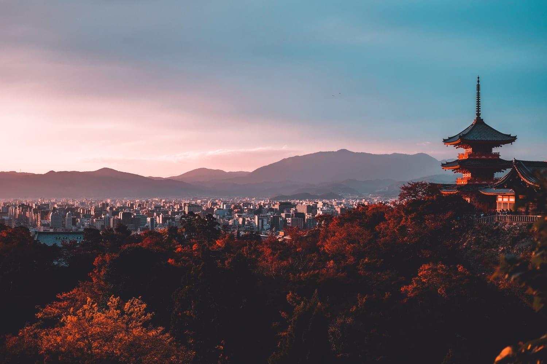 Kyoto Ausblick Japan