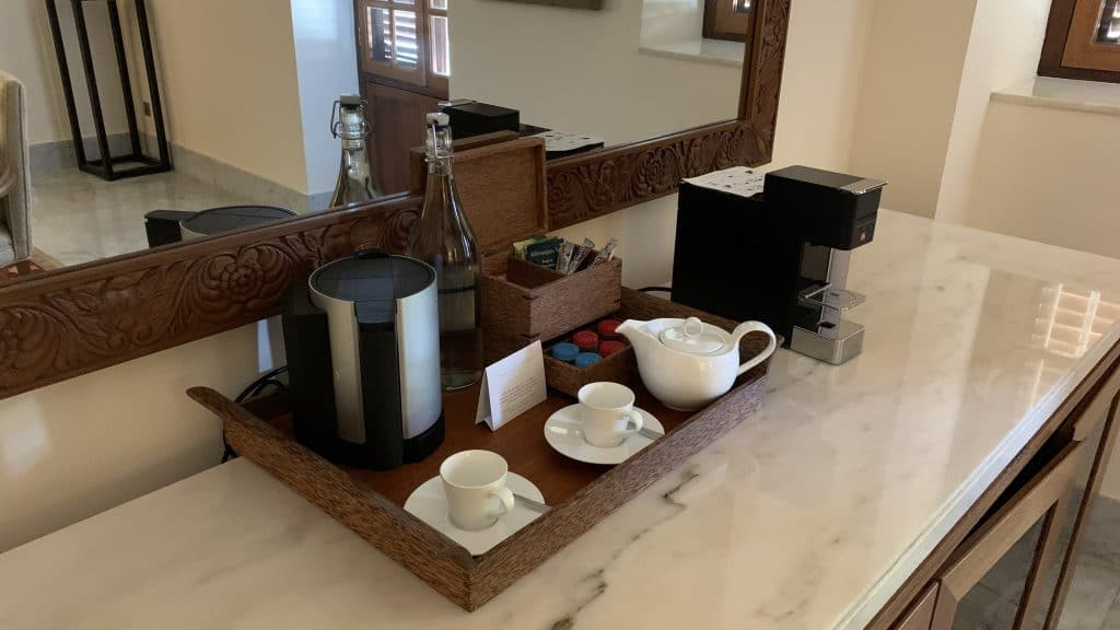Park Hyatt Zanzibar Suite Wohnzimmer Kaffee