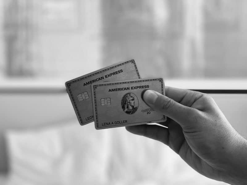 American Express Platinum Card Schwarz Weiss