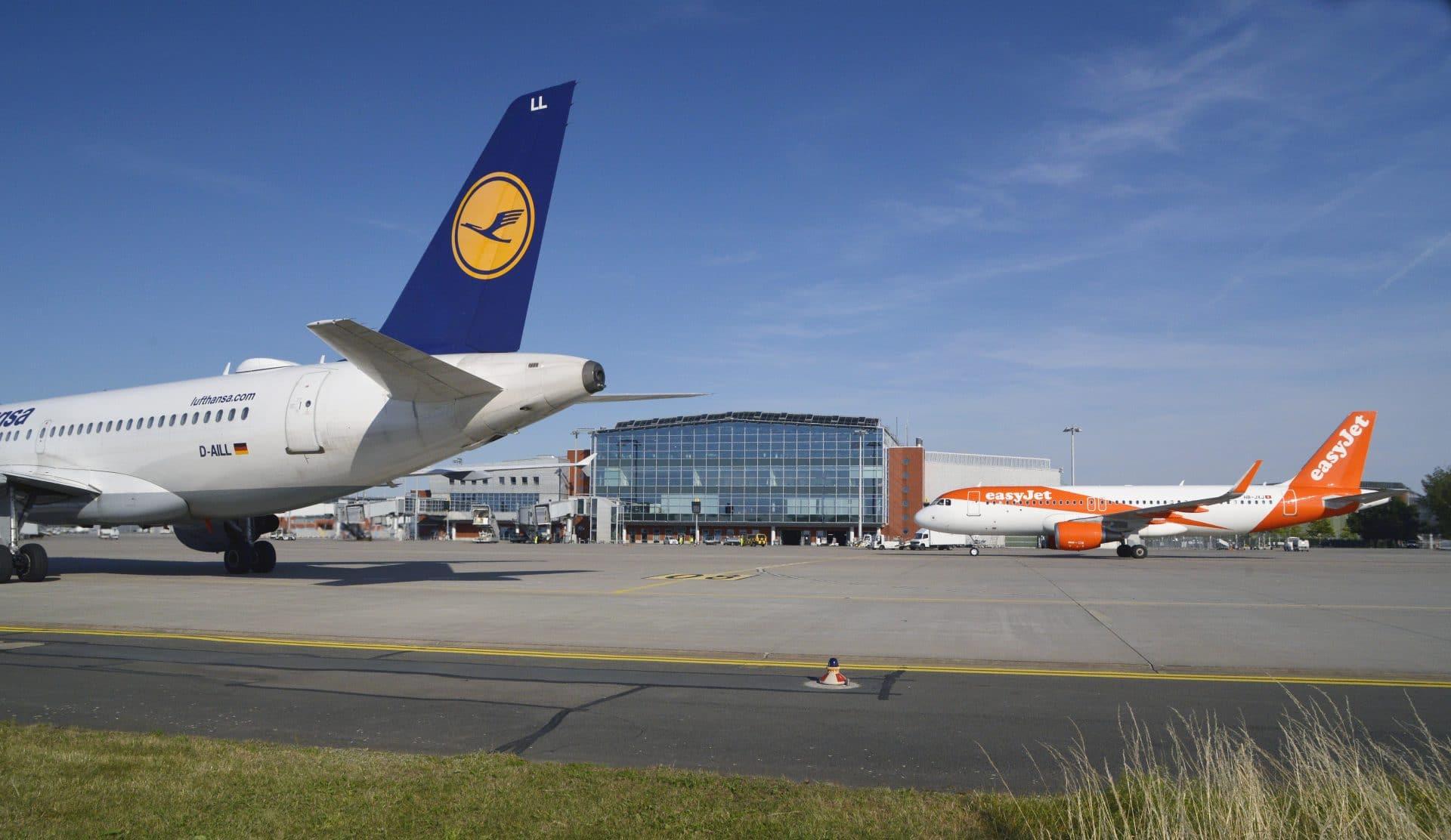 Flughafen Dresden, Lufthansa Airbus A319 & easyJet A320