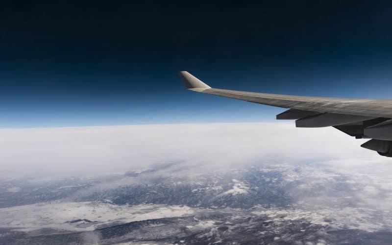 Lufthansa Flugzeug Ausblick