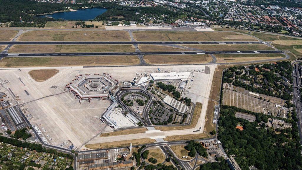 Flughafen tegel txl view von oben ansicht