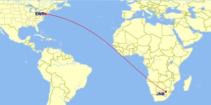 United Airlines New Ultra Long Haul Route EWR JNB