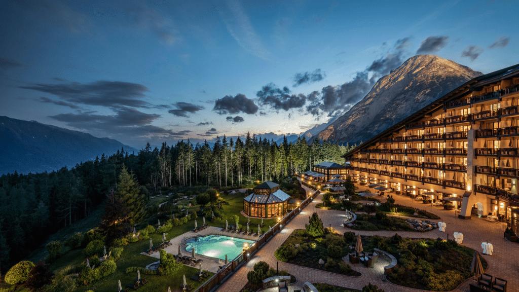 Interalpen Hotel Tyrol Spa Aussicht