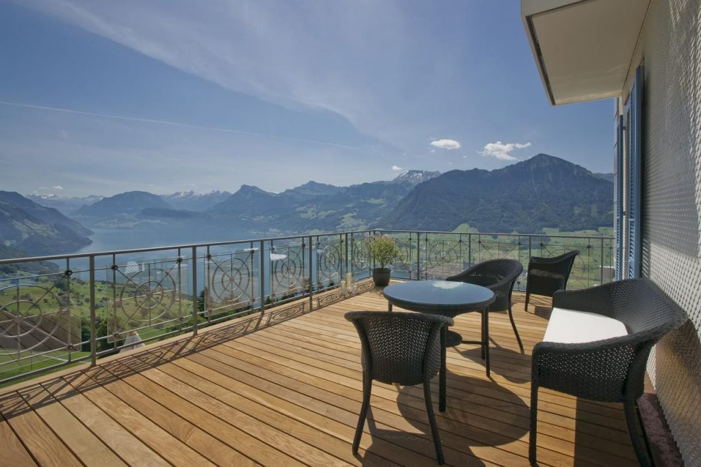 Hotel Villa Honegg Aussicht Terasse