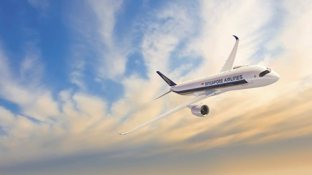 Singapore Airlines Sunset