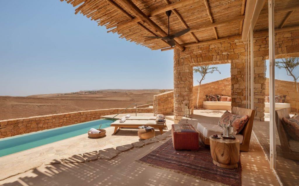 Six Sense Israel Villa Pool Aussicht