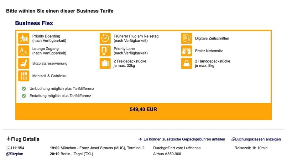 Lufthansa A350 MUC-TXL
