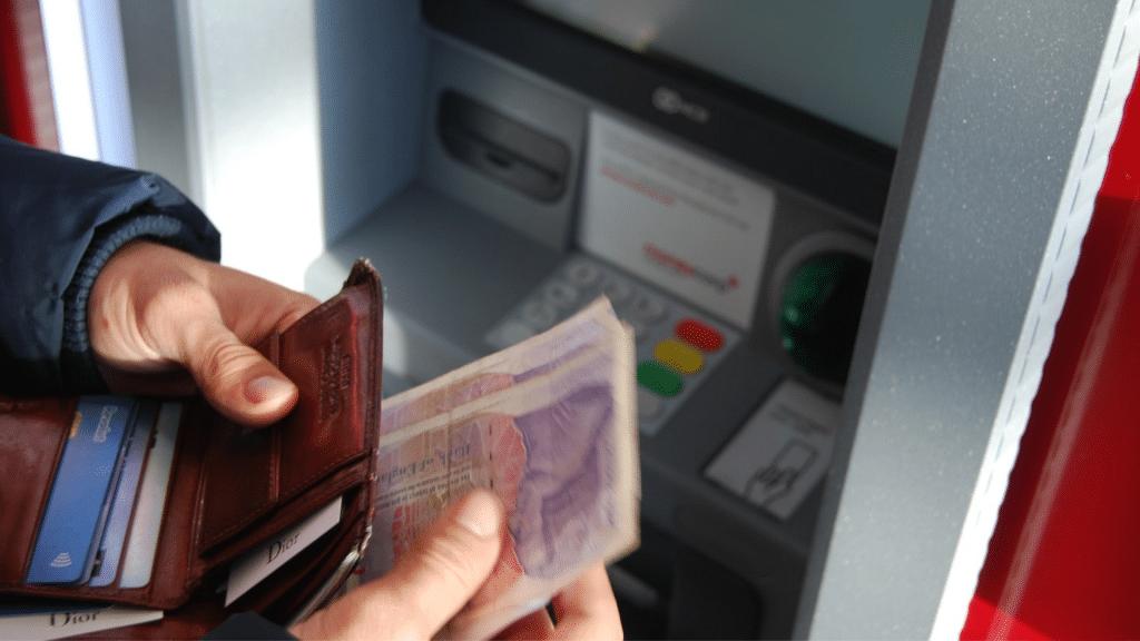 Geld Einzahlung Bargeldeinzahlung Automat