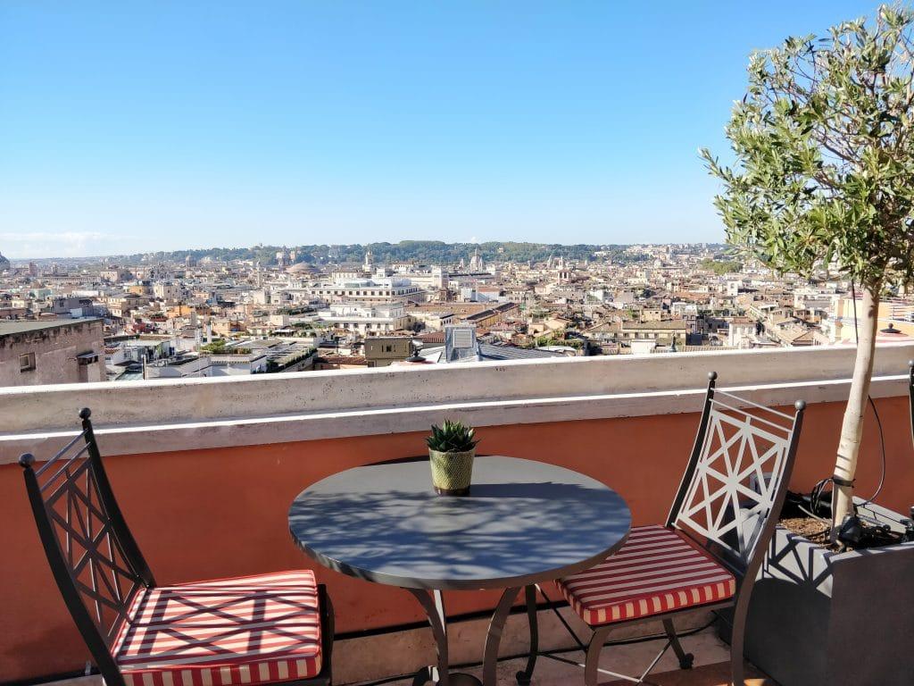 Hotel De La Ville Rom Terrasse