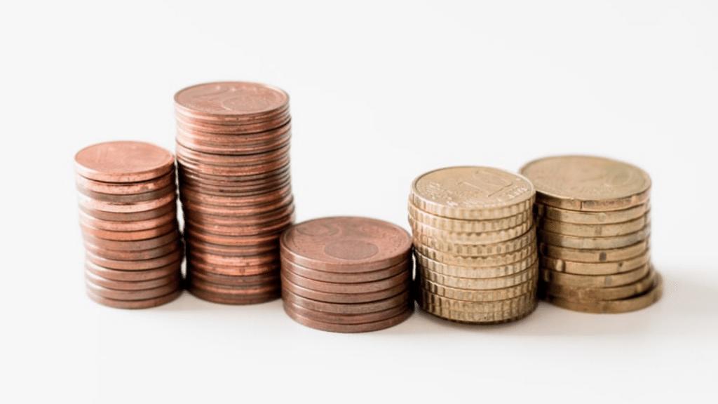 Münzen Geldeinzahlung Bargeld einzahlen
