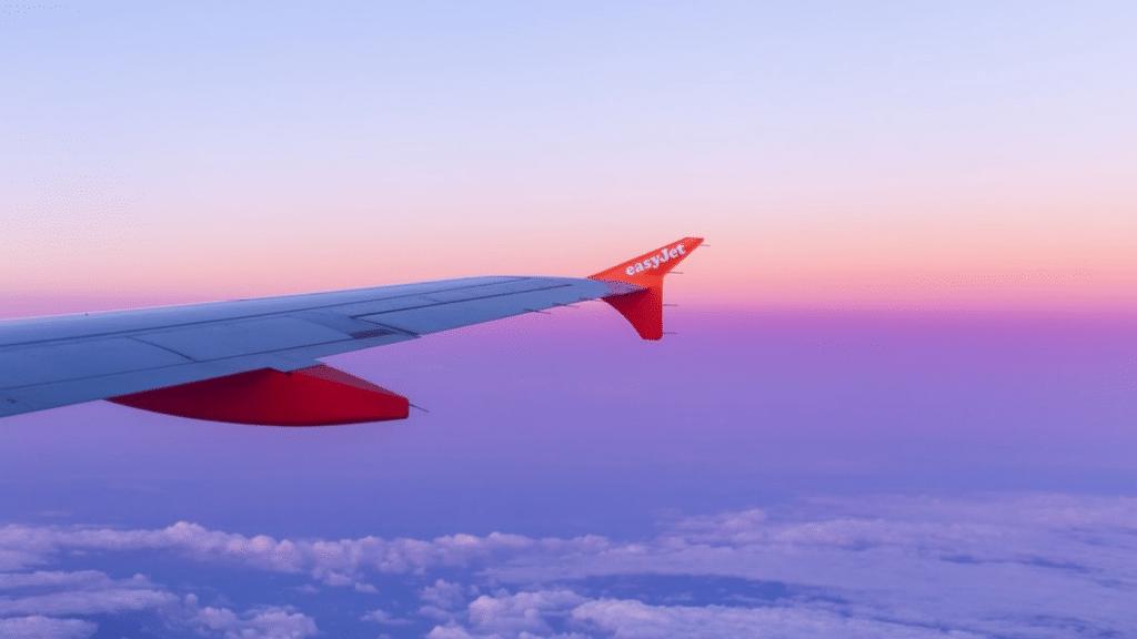Easyjet Sonnenuntergang Fenster