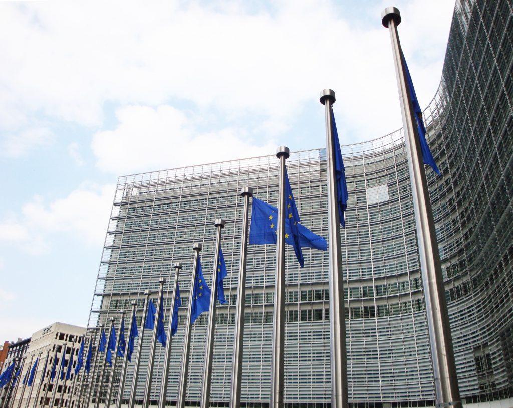 Europäische Kommsission Bild. Europa Flagge