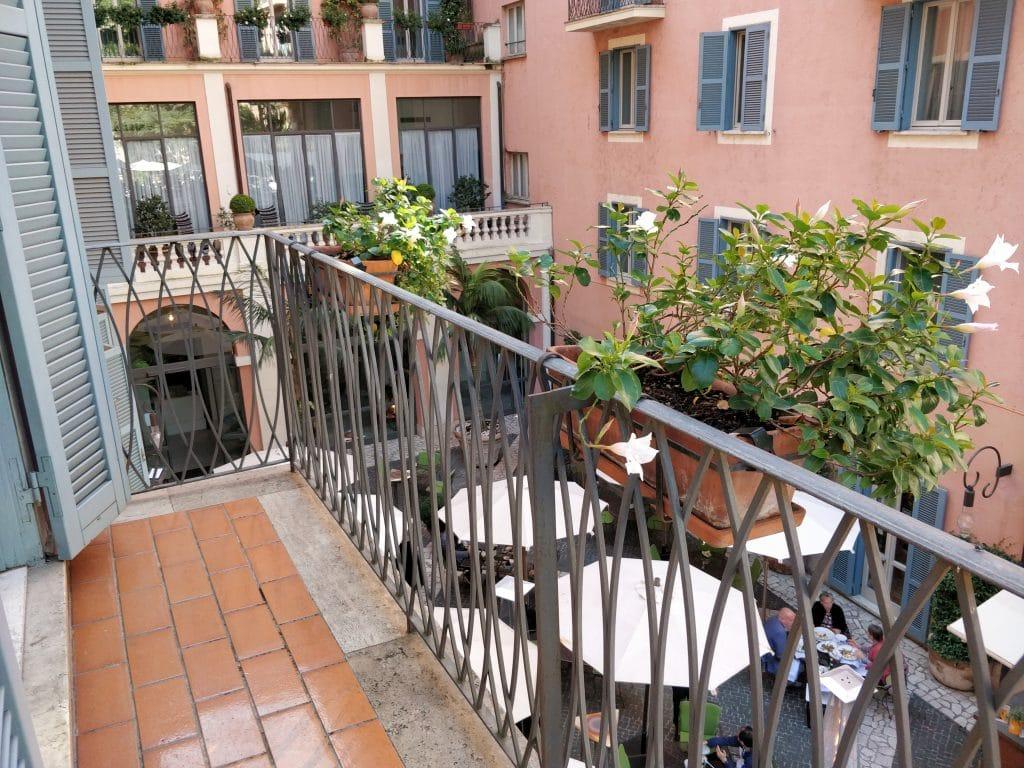 Hotel De Russie Rom Balkon
