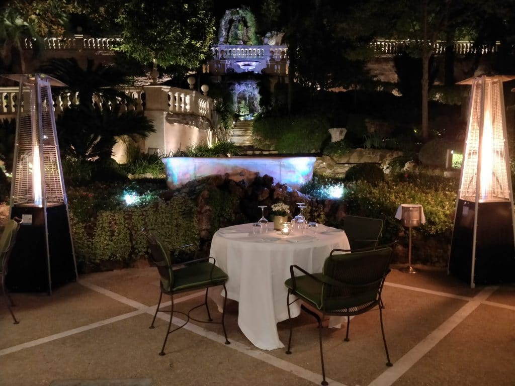 Hotel De Russie Rom Restaurant Nacht 2