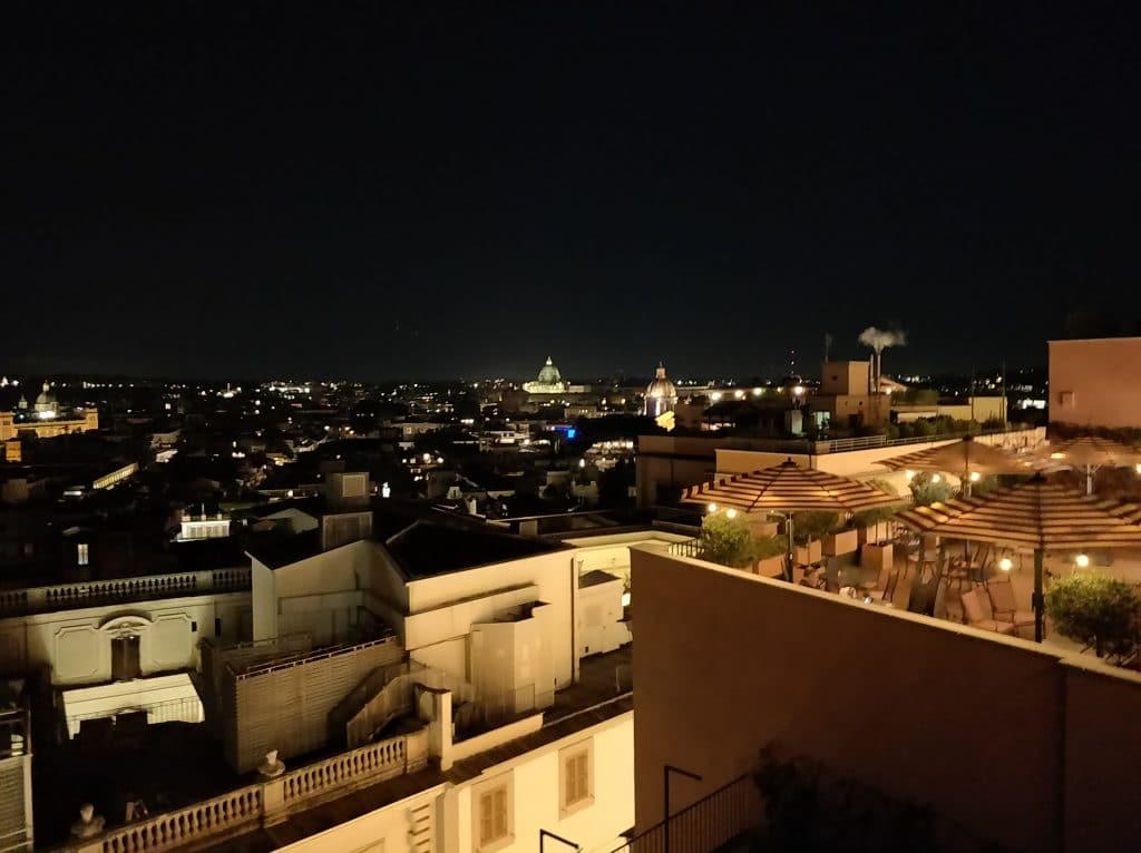 Rocco Forte Hotel De La Ville Rom Ausblick Abend