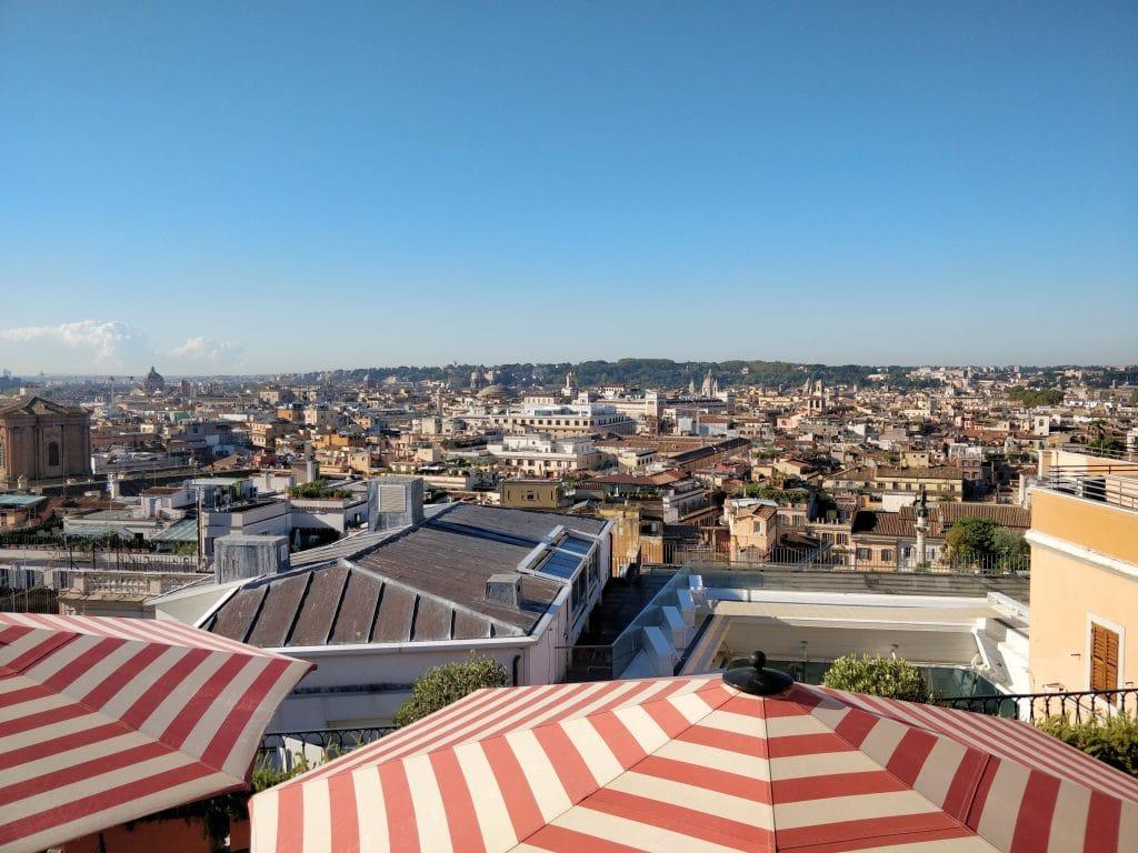 Rocco Forte Hotel De La Ville Rom Dachterrasse Ausblick 2