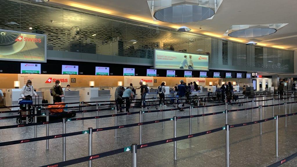 Flughafen Zuerich Check In Swiss