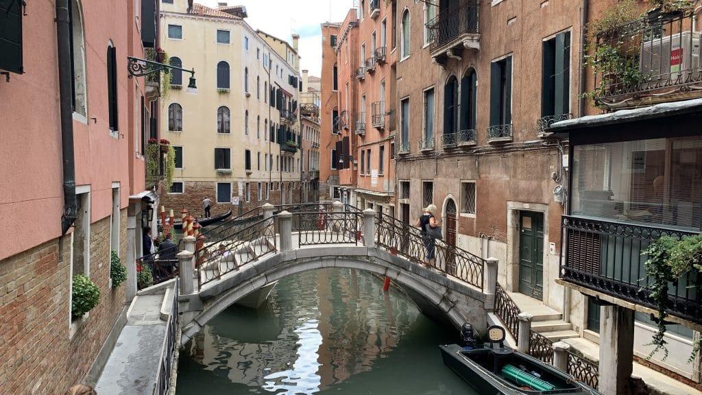 Splendid Venedig Brücke Vor Der Tür