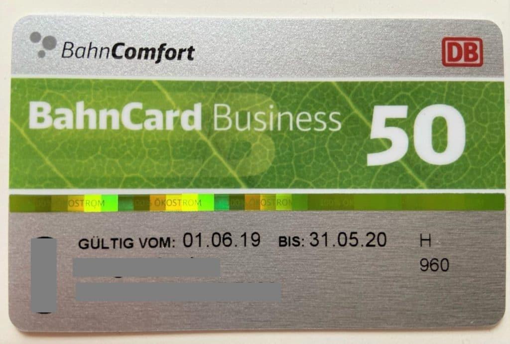 BahnCard Business 50
