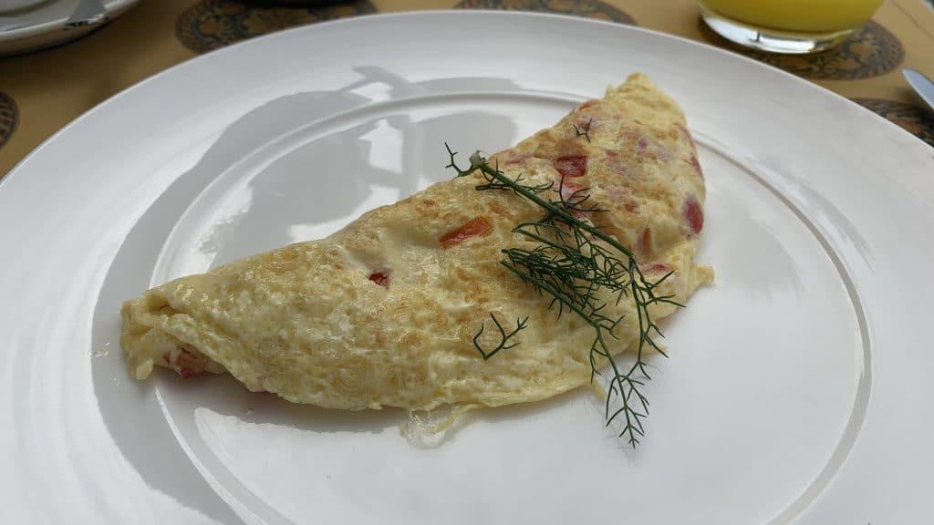 Verdura Resort Frühstück Omelette