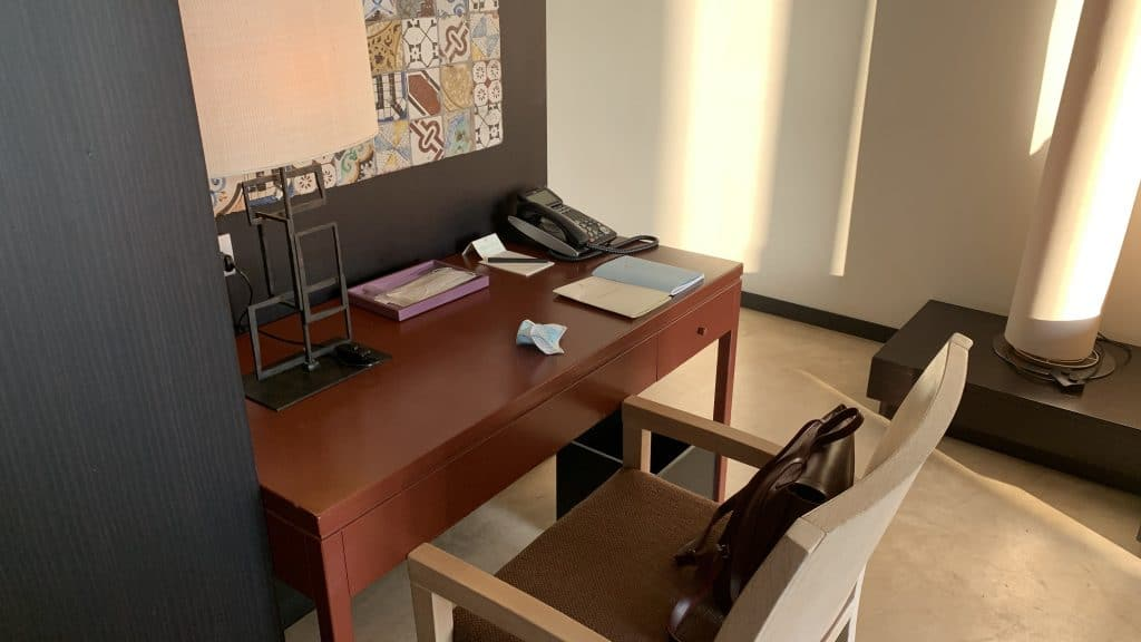 Verdura Resort Sizilien Schreibtisch