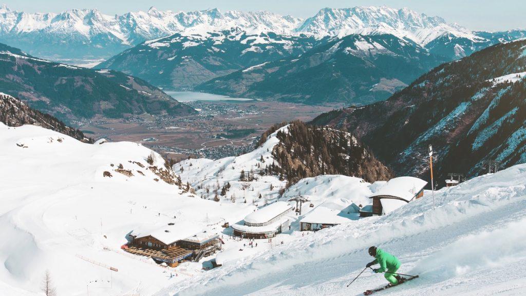 Austria Alpen Skifahren