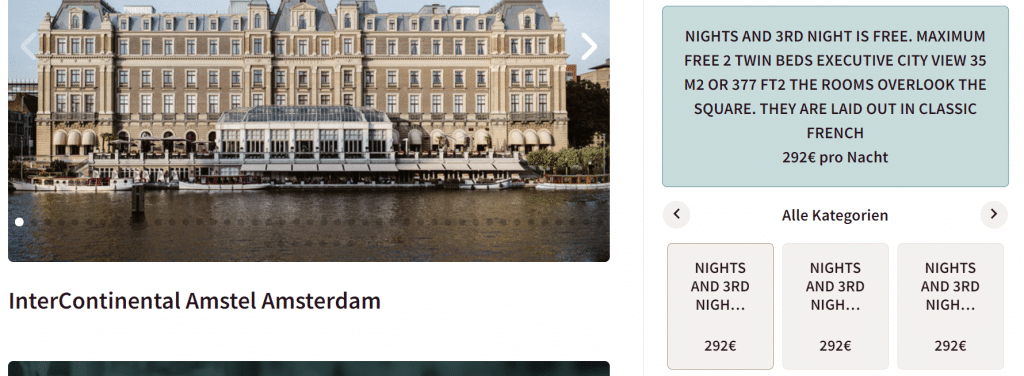 InterContinental Amsterdam 3for2