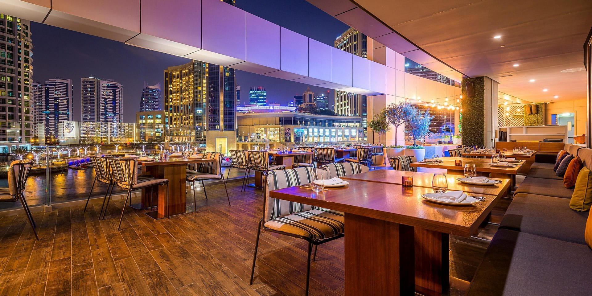 Intercontinental Dubai Marina Restaurant Dach