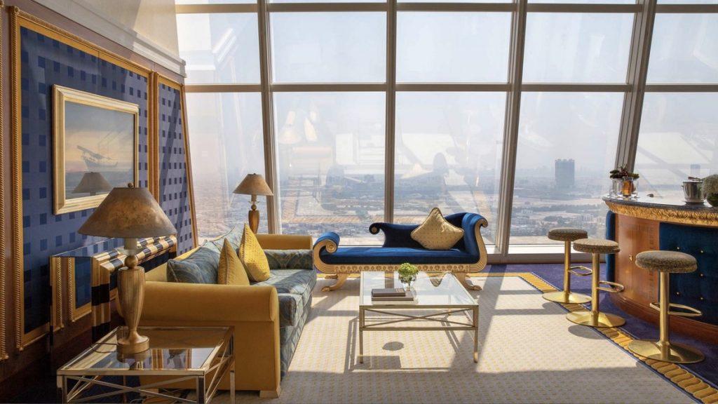 Burj Al Arab, Suite Wohnzimmer