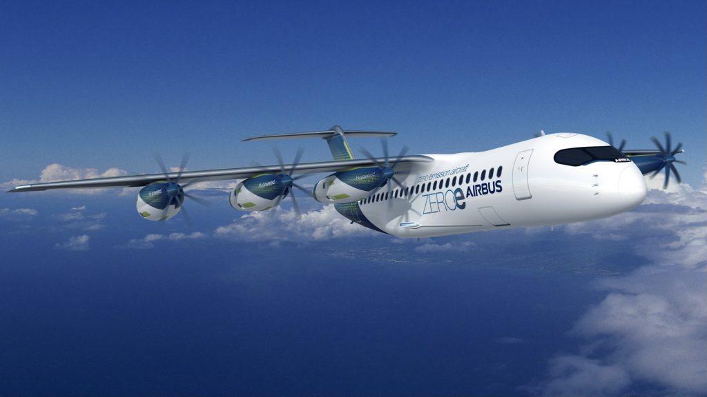Airbus Wasserstoff Turboprop Design