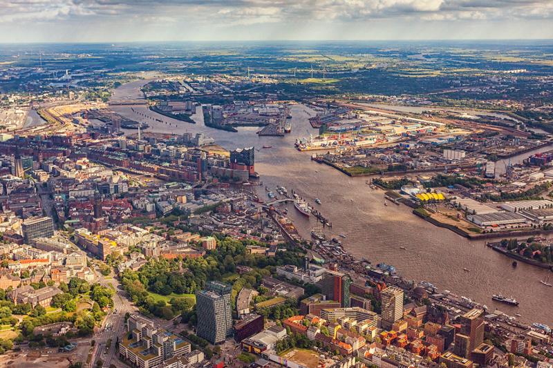 Hamburg, view