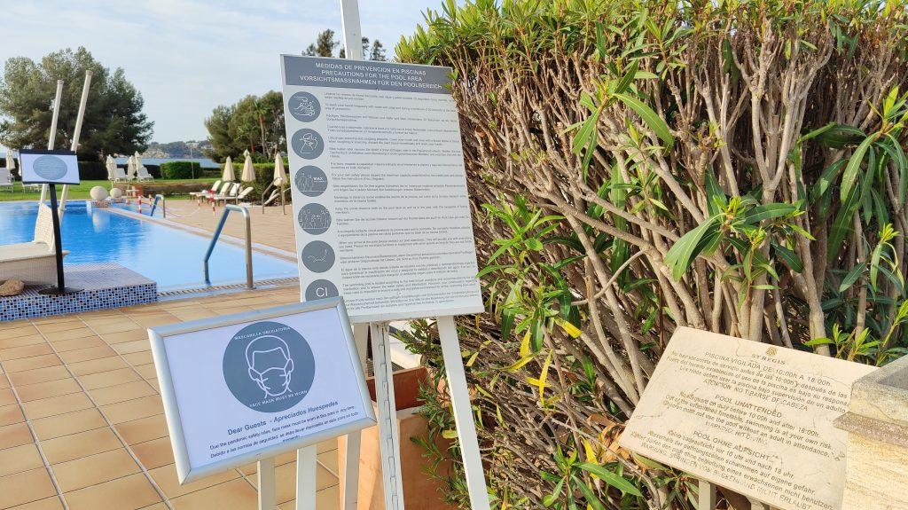 St. Regis Mallorca Mardavall Resort Pool Covid Hinweise