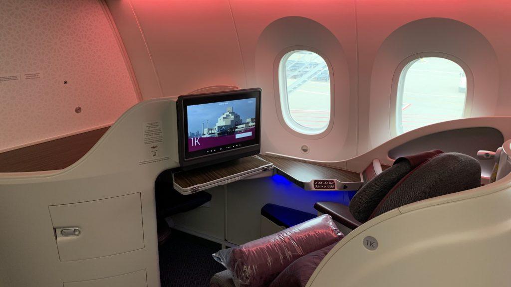 Qatar Airways 787 Business Class Sitz 2