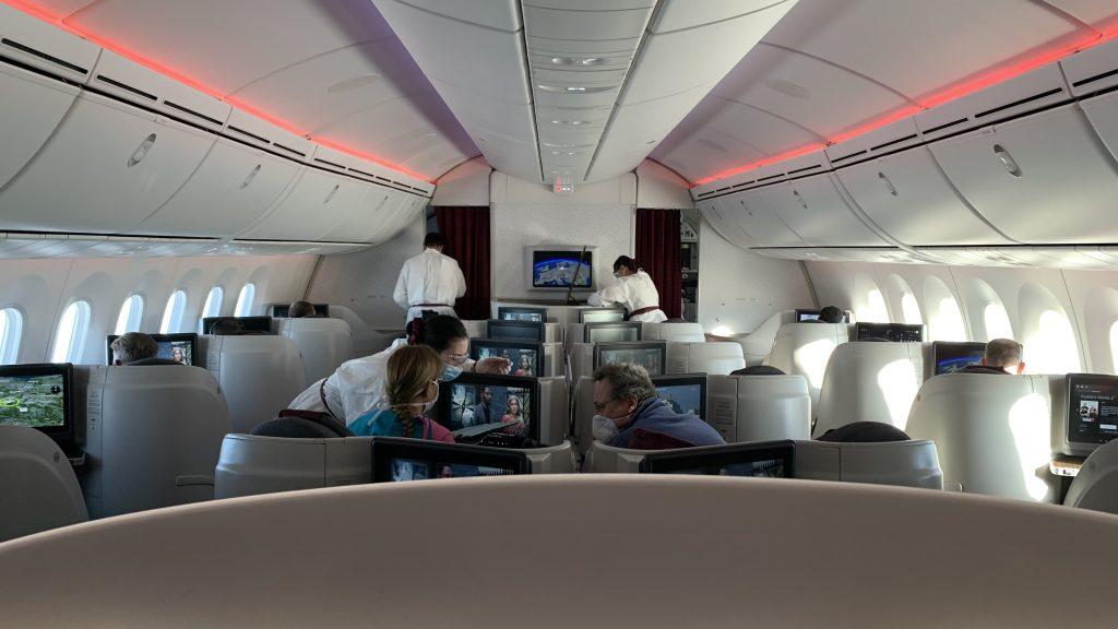 Qatar Airways Business Class Corona