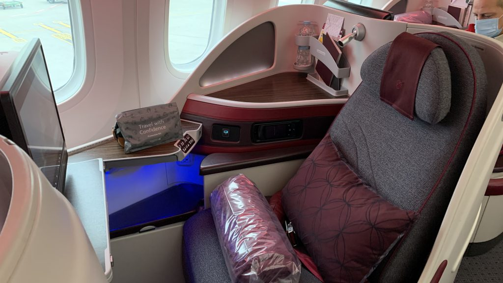 Qatar Airways Business Class Sitz 787
