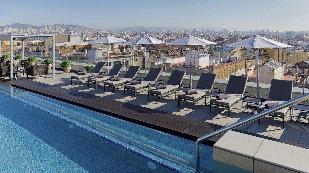 InterContinental Barcelona Dachterrasse Pool