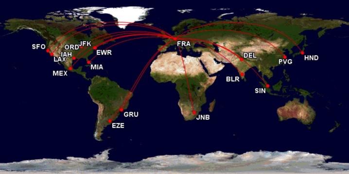 Lufthansa Boeing 747 MAP