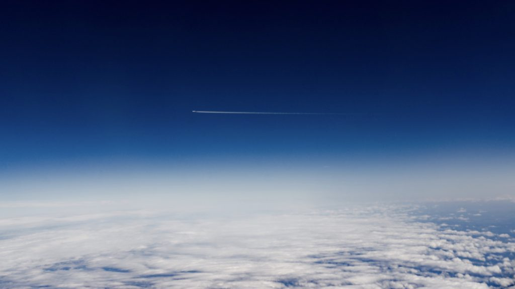 Blue Sky Airplane