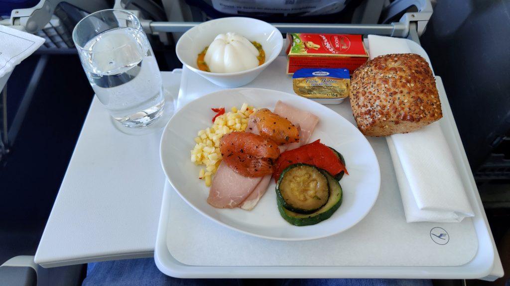 Lufthansa Business Class Mittagessen Europa