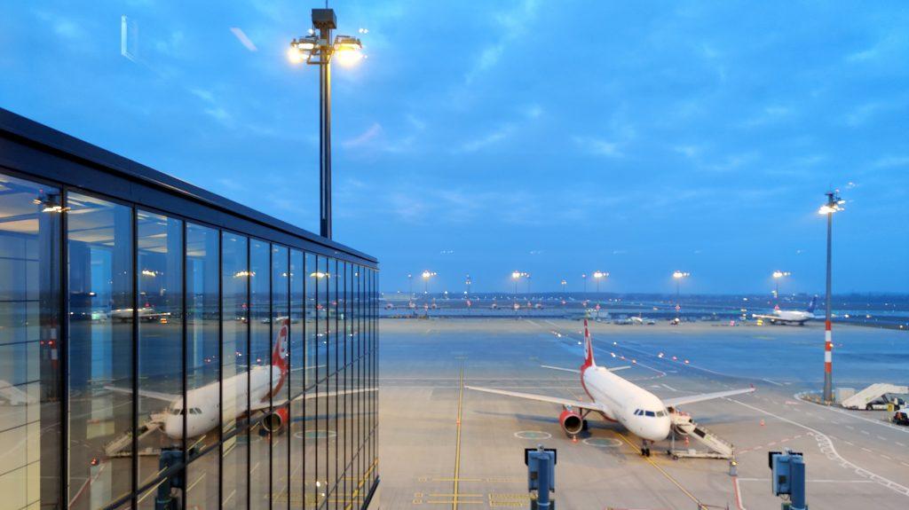 Lufthansa Lounge Berlin Ausblick