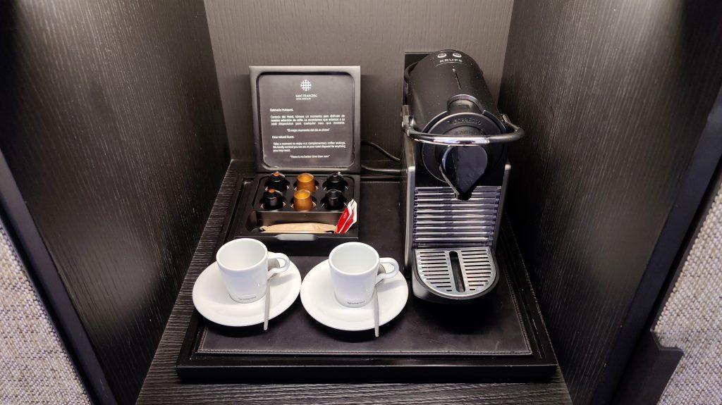 Sant Francesc Hotel Singular Palma De Mallorca Zimmer Kaffeemaschine