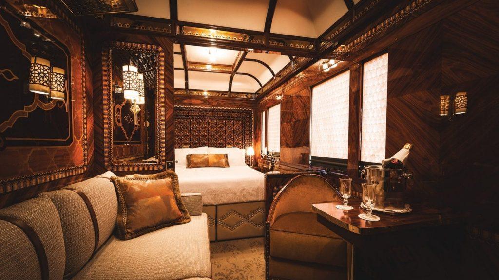 Venice Simplon-Orient-Express luxuriöse Innenausstattung