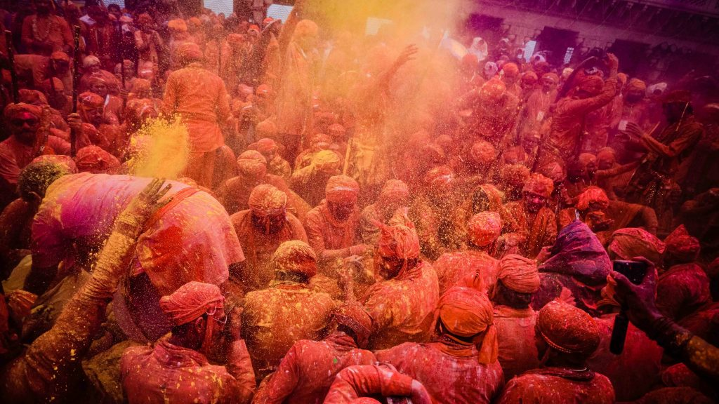 Vrindavan Uttar Pradesh India Holi Festival